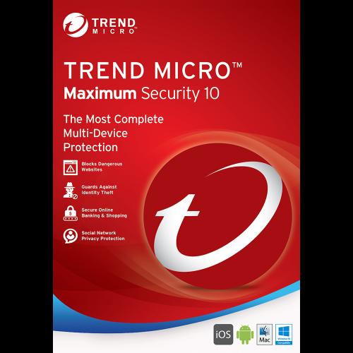 TREND MICRO Maximum Security (1-3 Devices) 24mth RetailMini Box