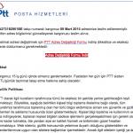 CryptoLocker şimdi de PTT Posta Mailinde