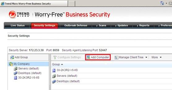 client server security agent
